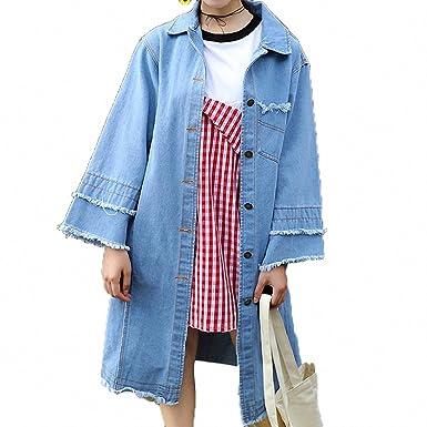 Huiwa Womens Denim Jacket Vintage Tassel Design Long Sleeve ...