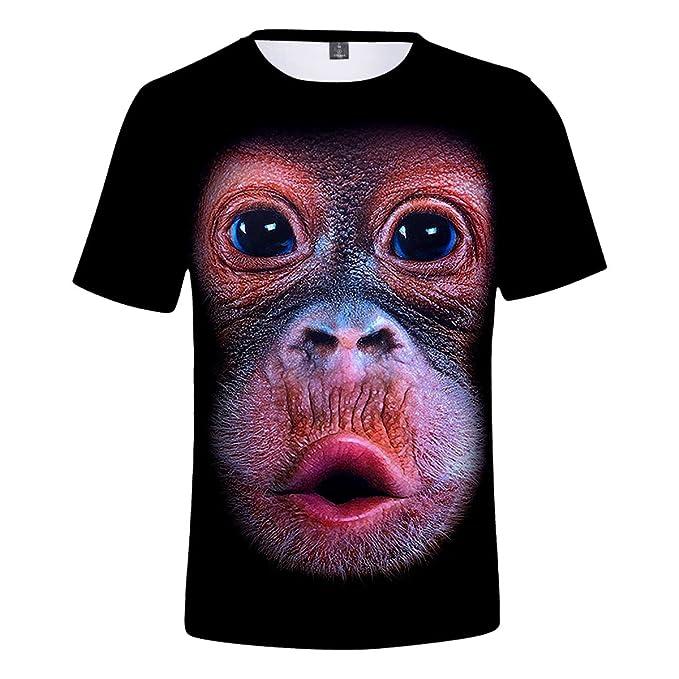 CTOOO Gorila 3D Digital Print Transpirable Camiseta De Manga Corta para  Hombres Y Mujeres  Amazon.es  Ropa y accesorios 085460aa46ab7