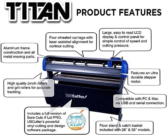 28-inch uscutter Titan cortador de vinilo con soporte, diseño de ...