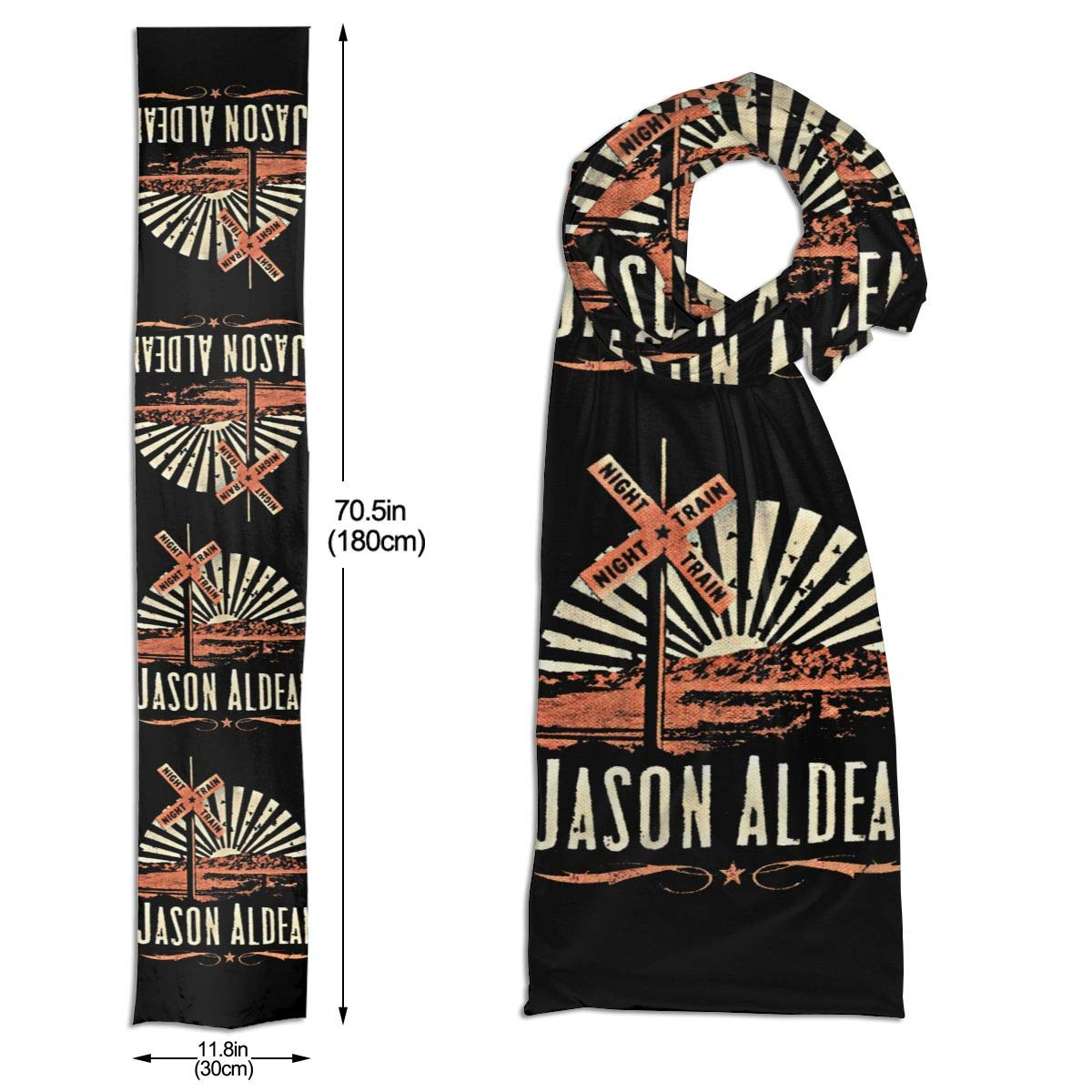 Jason Aldean Scarf Autumn And Winter Warm Unisex Soft And Comfortable Fashion Pattern Scarf 71x11