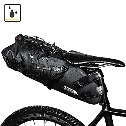 Amazon Com Waterproof Bike Seat Bag Under Seat Pouch Rear Tail