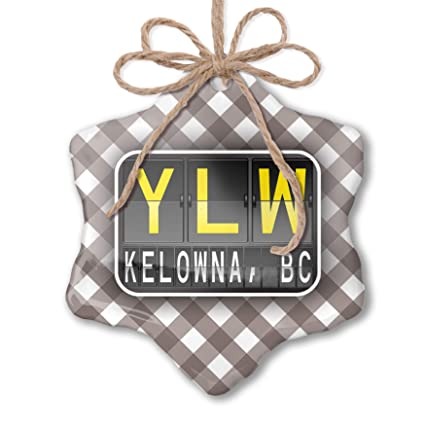 Amazon Com Neonblond Christmas Ornament Ylw Airport Code