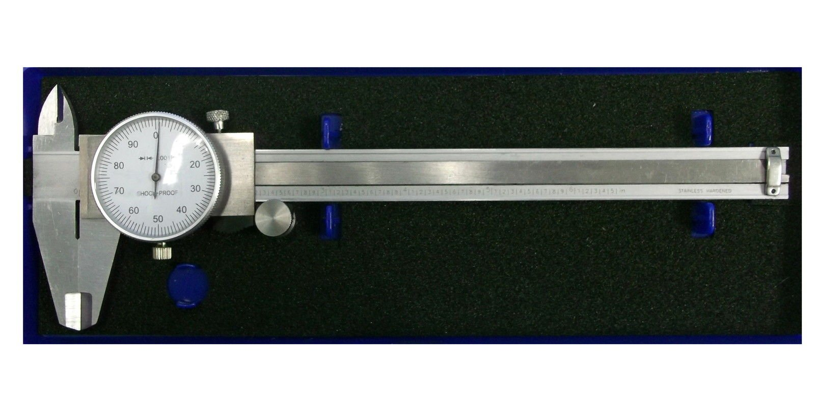 Enkay 806 - 6'' Steel Adjustable Dial Caliper With Plastic Storage Case