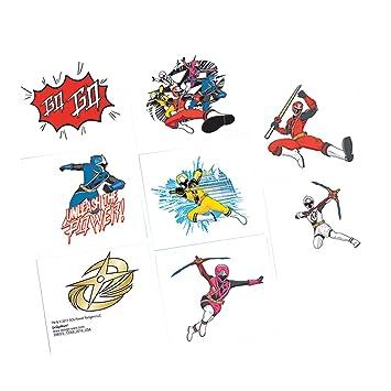 Amazon.com: Shindigz Power Rangers Ninja Steel Tattoos ...