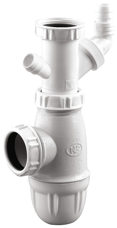Siphon avec prise machine à laver Neptune - Diamètre 40 mm Bricodeal