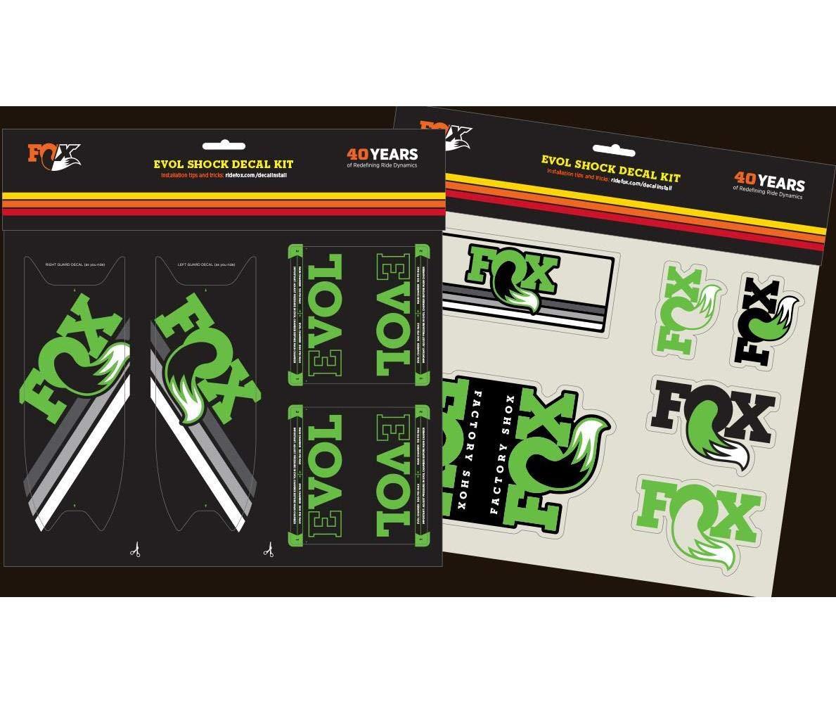 Float Evol Green Fox Racing Shox 803-00-929 Heritage Decal Kit