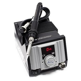 Aoyue int937Soldadura regulable con SMD Soldador y cerámica calefacción Element ESD Safe
