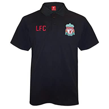 1c90b4f1830 Liverpool Football Club Official Soccer Gift Mens Crest Polo Shirt Black  Small