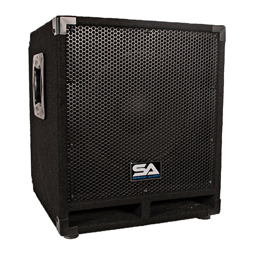 Seismic Audio Mini-Tremor Powered 12-Inch Pro Audio/DJ Subwoofer Cabinet Active 12-Inch Subwoofer by Seismic Audio