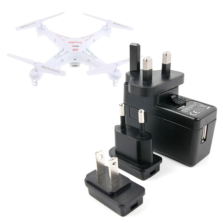 DURAGADGET Kit De Adaptadores con Cargador para Dron Floureon ...