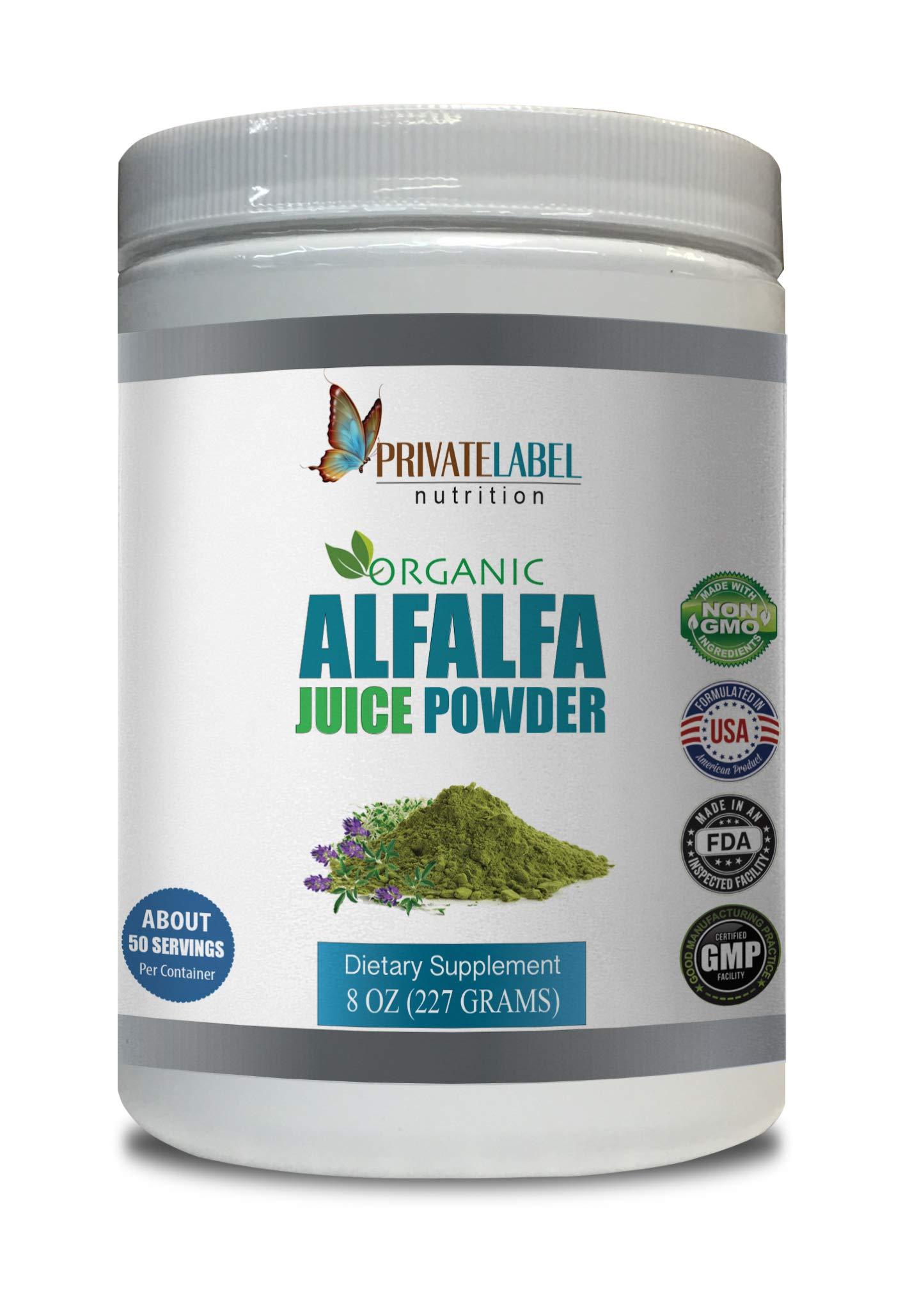 antioxidant Formula Supplement - Alfalfa Juice Organic Powder - Alfalfa Extract - 1 Can 8 OZ (50 Servings)