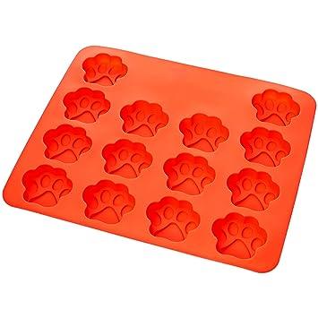 AmazonBasics - Molde de silicona con diseño de huella de perro: Amazon.es: Hogar