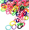 Baby Hair Ties for Kids Toddlers 100 PCS 10 Colors Small Seamless Hair Bands Ponytail Holder J-MEE