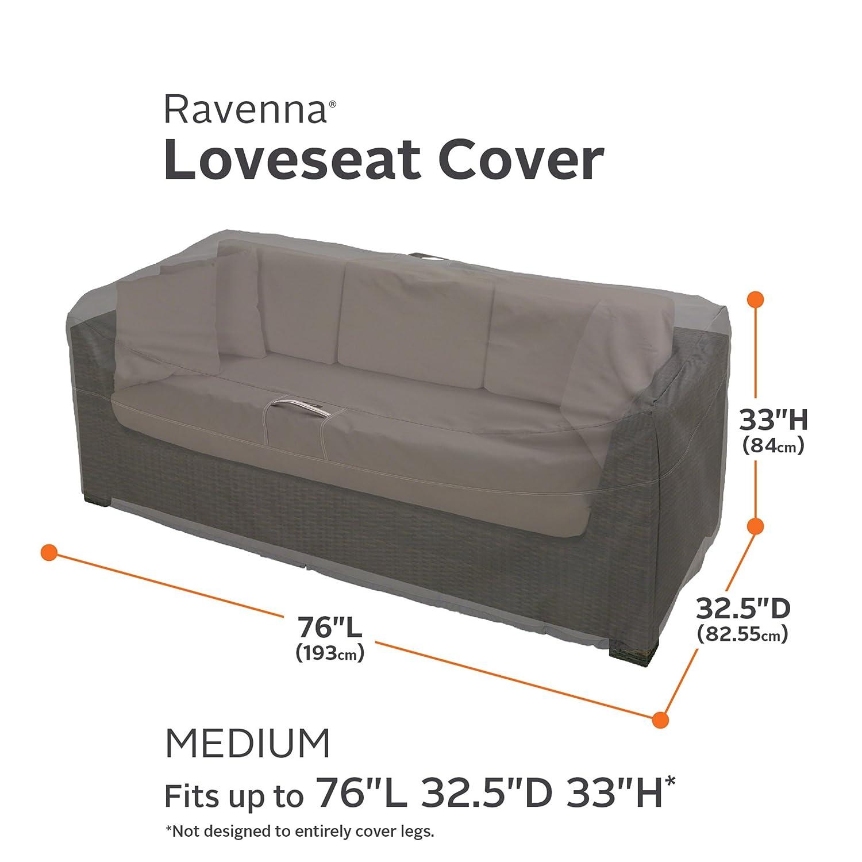 Amazon Classic Accessories Ravenna Patio Loveseat Cover