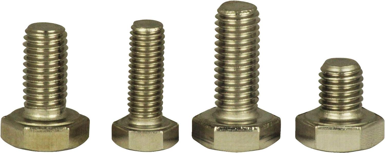 Sechskantschrauben Maschinenschrauben mit Vollgewinde Edelstahl A2 - 10 St/ück M5x12 - D/´s Items/® DIN 933 Sechskant-Schrauben V2A Gewindeschrauben