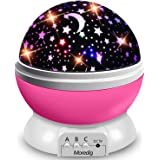Moredig Starry Ceiling Night Light Projector, 360 Degree Rotating Light Projector with 8 Color Light Change for Kids Baby - P