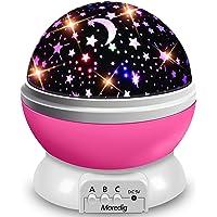 Moredig Nachtlampje sterrenhemel projector, babylicht 360° rotatie LED sterrenlicht lamp sterrenhemel projector met 8…