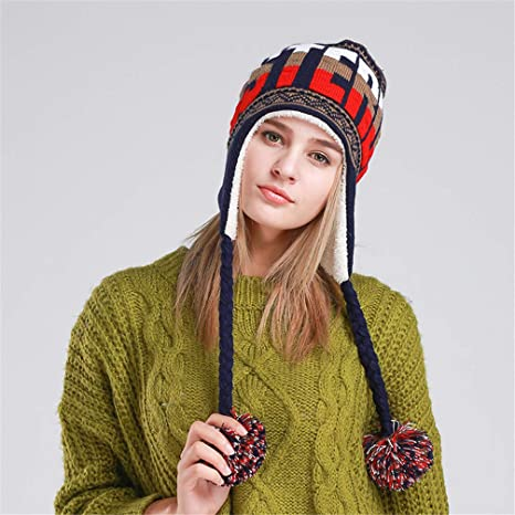 Amazon.com  RGUU Fashion Designer Beanies Winter with Ears Warm ... e5069a69204