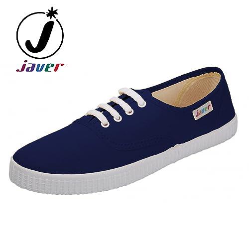 javer - Zapatillas Lona Ingles Mujer Color: Marino Talla: 38: Amazon.es: Zapatos y complementos