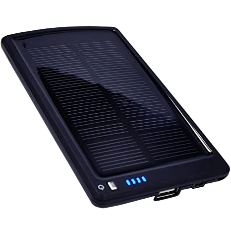 Opteka BP-SC4000 Ultra Thin Solar Powered High Capacity (4000mAh) Backup Battery and Charger for Cell Phones, iPhone, iPod, and Most USB Powered ...