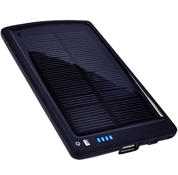 Opteka BP-SC4000 Ultra Thin Solar Powered High Capacity (4000mAh) Backup  Battery and Charger for Cell Phones, iPhone, iPod, and Most USB Powered