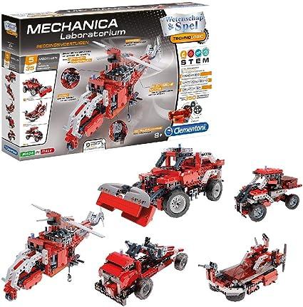 Clementoni-66827 Vehículos mecánicos y Servicios de Rescate, Color Negro, Gris, Rojo (66827): Amazon.es: Juguetes y juegos