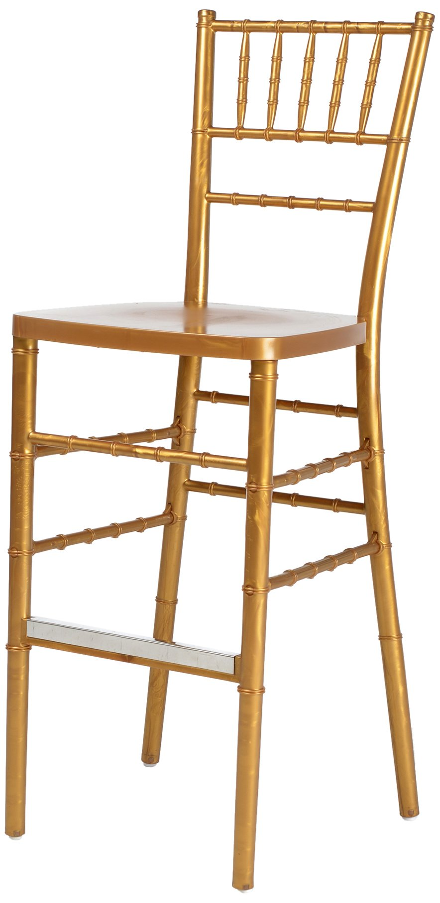 CSP Events RB-800K-GL ''Max'' Chiavari Chair Steel Core with ED Resin, 36'' Height, 16'' Width, 16'' Length, Gold