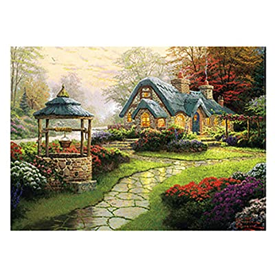 Hotkey Jigsaw Puzzles 500 Piece for Adults, Landscape Building Pattern Puzzle Intellective Educational Toy BJ-5: Clothing