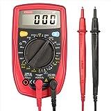 Etekcity MSR-R500 - Multímetro Digital con retroiluminación LCD para medir corriente AC/DC , voltaje, diodos y continuidad audible, color rojo