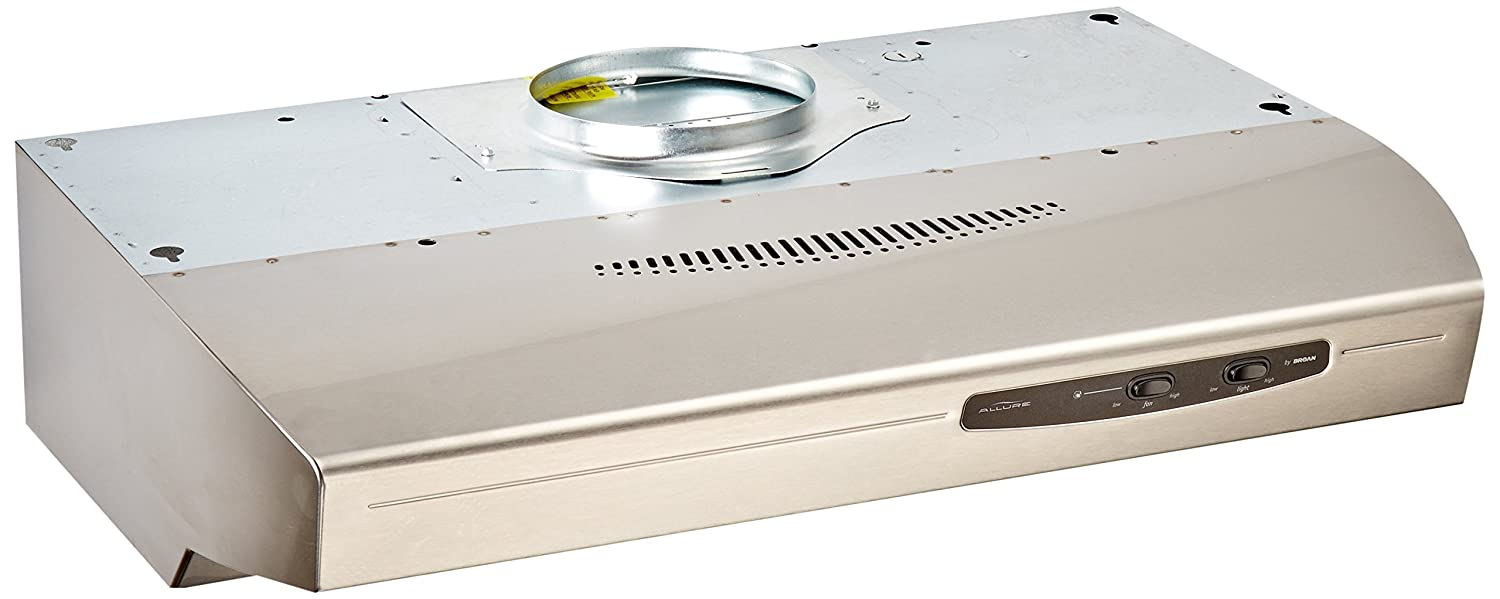 Broan QS130SS220 CFM Under Cabinet Hood, 30-Inches, Stainless Steel