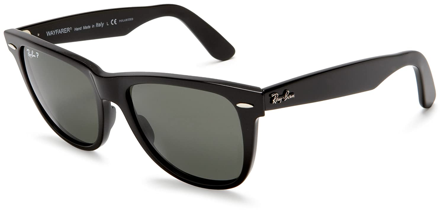 black ray ban wayfarer sunglasses  Ray-Ban - RB2140 (Original Wayfarer) - Black Frame- Crystal Green ...