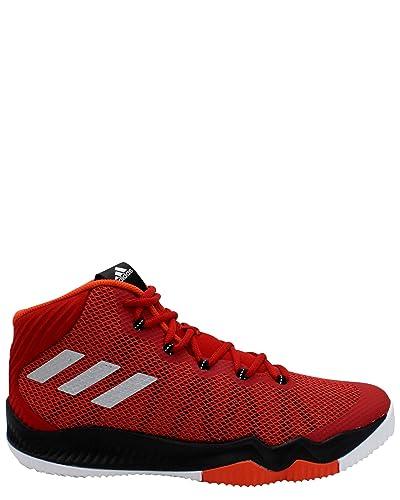 innovative design 2e2fd 16400 adidas Crazy Hustle Mens Basketball Shoes (Scarlet, Silver, ...