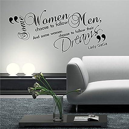 Amazon com: Lady GAGA Quote Phrase Stencil Graphic Transfer WSD Wall