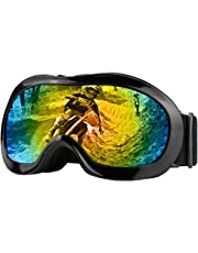 JAMIEWIN Adult Motorcycle Motocross Goggles ATV Racing Goggles Dirt Bike Mx Goggle Glasses and Ski Snowborading(12 Color)