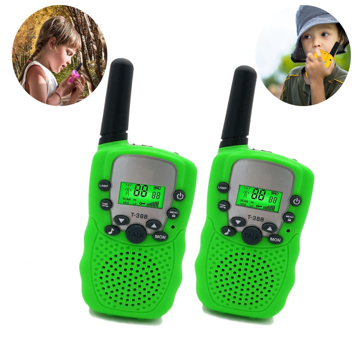 Three Ducks Toys 4-8 Year Old Boys, Long Range Walkie Talkies 9-14 Year Old Boys ,Kids Outdoor Toys Games Gifts 3-12 Year Old Boys Girls Birthday Presents Gifts(Green)