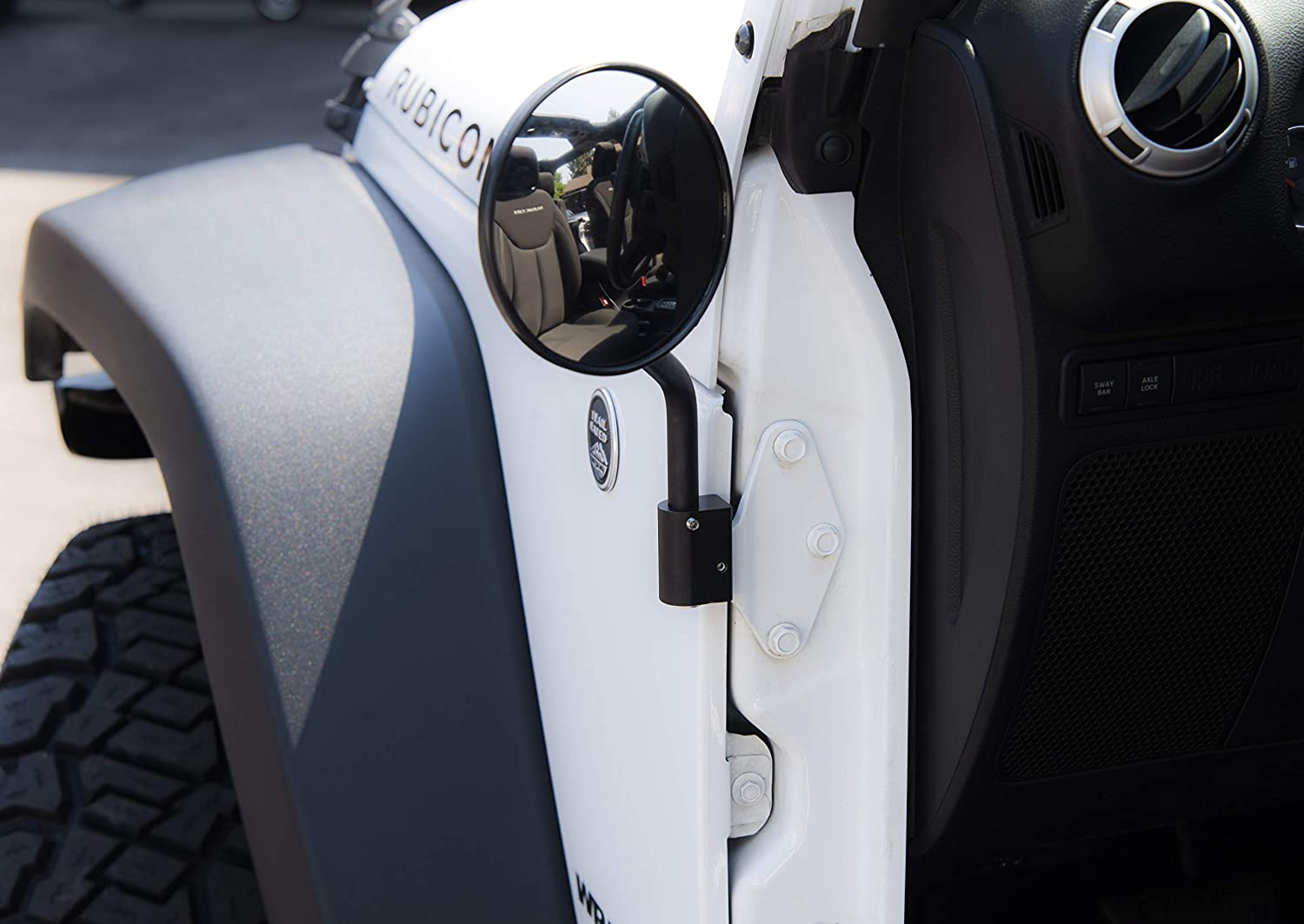 Mirror 1 Hinge Mount for 2007-2018 JK Jeeps M1-700 right and left side aftermarket replacement mirror set and mounting hardware for all Sport, Sahara, and Rubicon