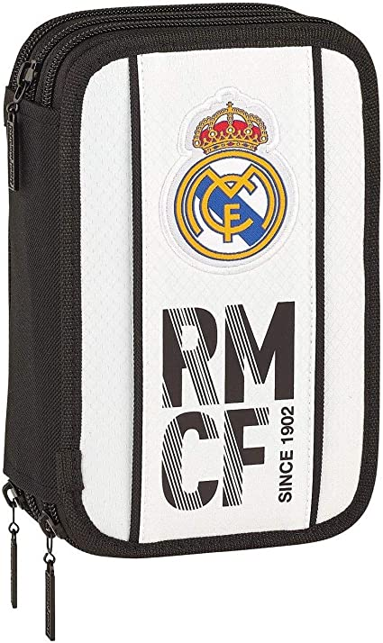 Estuche Real Madrid 3 pisos completo + llavero silbato: Amazon.es: Oficina y papelería