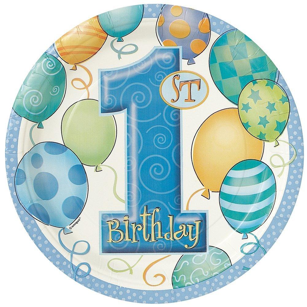 Unique Party 23964-35 cm Decorazione per Feste Palloncini Blu a Nido DApe 1st Birthday