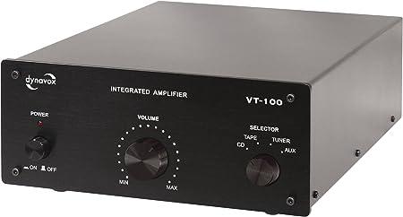 Dynavox Vt 100 Vollverstärker Schwarz Audio Hifi