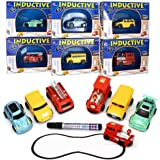 Magic Mini Pen Inductive Toy Car Truck Tank Bus Follow Any Drawn Line Battery Included For Pre-school Learning and Children (School Bus)
