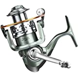 ROSE KULI Spinning Fishing Reel - Stainless Steel Saltwater 12+1 Ball Bearings Lightweight Smooth Left/Right Interchangeable Baitcasting Reels