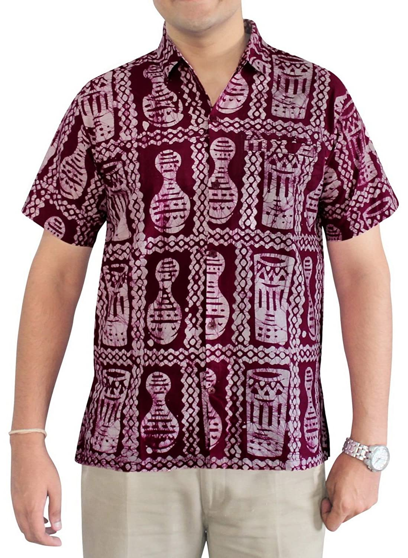 salida LA LEELA Shirt camisa hawaiana Hombre XS - 5XL Manga corta ...