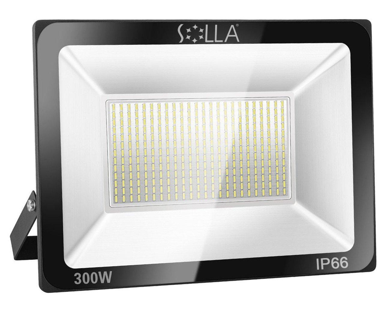 Solla projecteur led 300w ip66 imperméable 24000lm eclairage