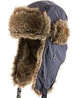 Arctic Trapper Ripstop Soft Faux Fur Ushanka Aviator Ski Cap Trooper Hat