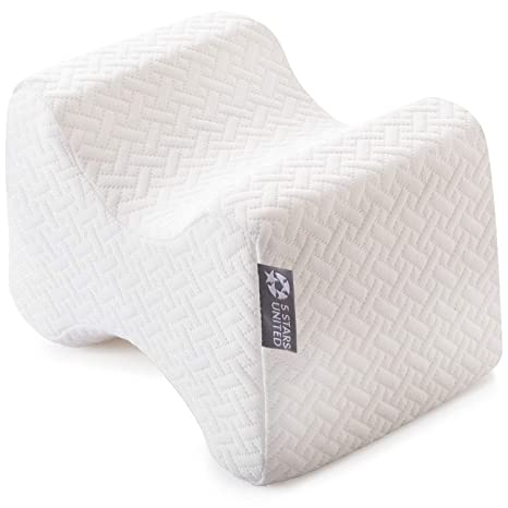 Knee Pillow for Side Sleepers - 100% Memory Foam Wedge Contour - Leg  Pillows for Sleeping - Spacer Cushion for Spine Alignment, Back Pain,  Pregnancy