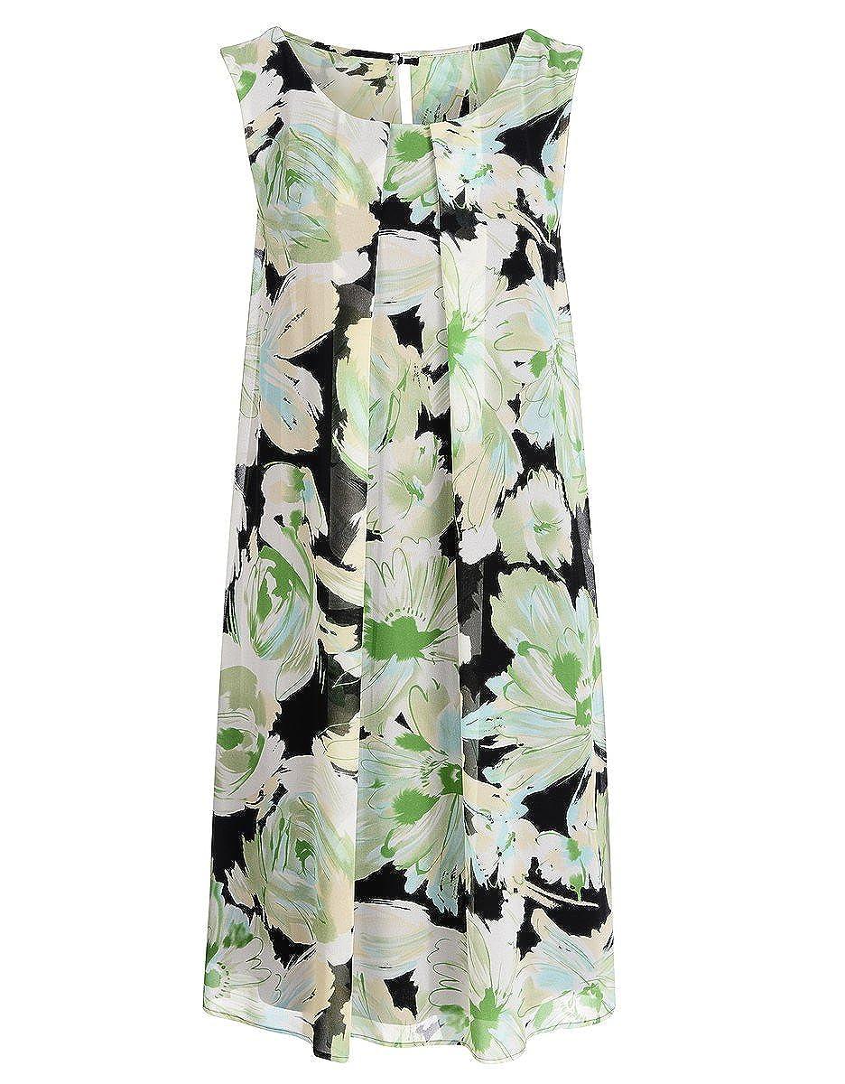 STEILMANN by Adler Mode Damen Jerseykleid mit Cut-Out-Detail und Bindegürtel - Sommerkleid, Coktailkleid, Businesskleid, Stoffkleid