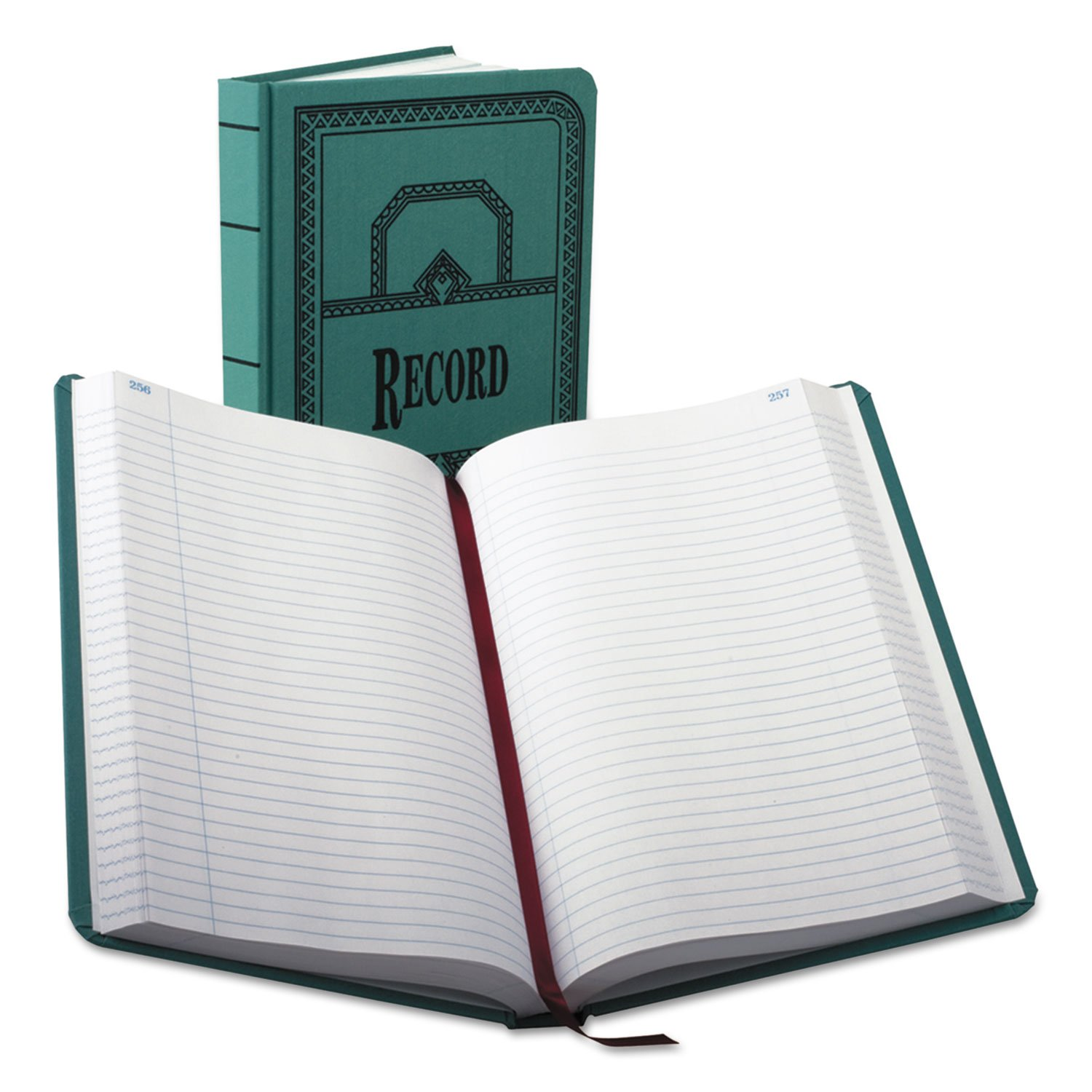 Boorum & Pease 66500R Account Book, Record-Ruled, 500 Pages, 12-1/8''x7-5/8'', Blue