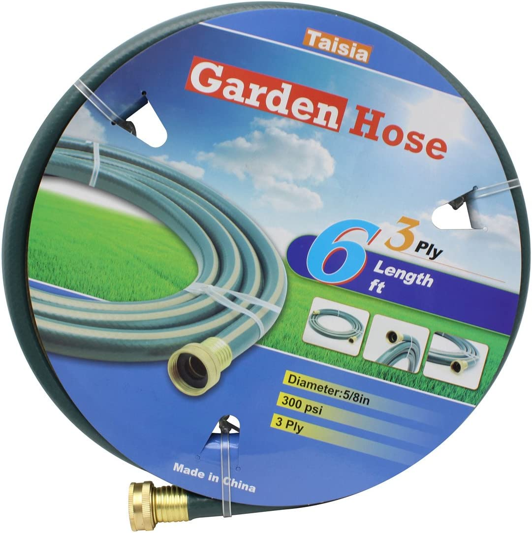 "Taisia Garden/Farm/Water Hose 5/8""X6ft-3PLY Great for Gardens/Farm and Ranch (6 FT) …"