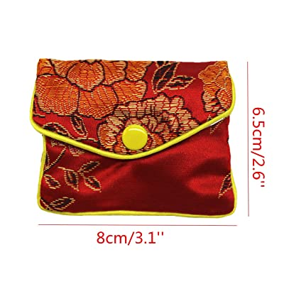 1pcs Chinese Silk Stain Embroidered Jewelry Bag Pouch Travel Makeup Bag Case