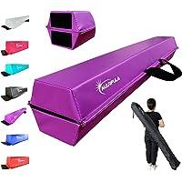 MARFULA 6 FT / 8 FT / 9 FT / 10 FT Folding Gymnastics Balance Beam - Extra Firm - PVC - Non Slip Base for for Home/Gym…